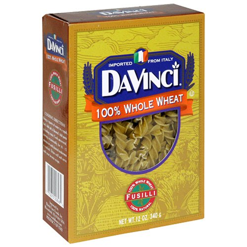Buy Davinci Whole Wheat Fusilli-Spirals, 12-Ounce Boxes (Pack of 12)
