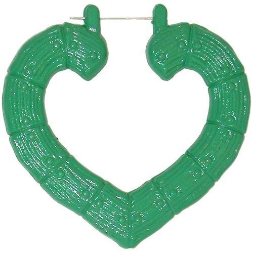 Enameled Heart Hoop Doorknockers In Green