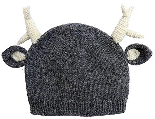 Knit Wool Deer Antler Hat