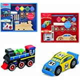 Melissa & Doug Create-A-Craft Car and Train Bundle