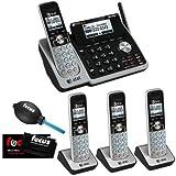 AT&T TL88102 Dect 6.0 1-Handset 2-Line Landline Telephone Bundle with 3 Handsets