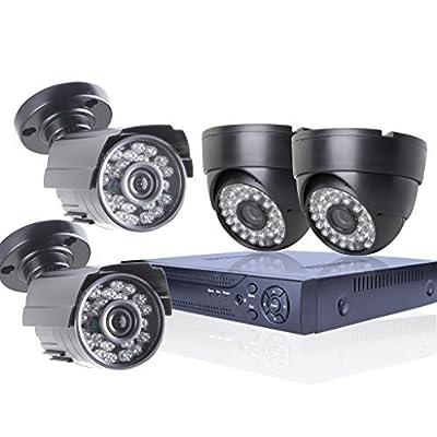 SW Security CCTV 4CH 1200TVL Camera DVR System 1200TVL 2 Indoor Dome 2 buttle outdoor Surveillance Camera System ¡