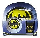 Dc Comics BATMAN LOGO Melamine Dinnerware 3 Piece Set