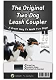 Caldwells Pet Supply Co. No Tangle Dog Leash Coupler, Double Dog Walker and Trainer Leash - Two Dogs Adjustable Splitter Lead 1 X 16-24 Inches