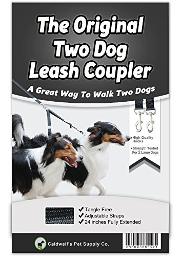 Caldwells-Pet-Supply-Co-No-Tangle-Dog-Leash-Coupler-Double-Dog-Walker-and-Trainer-Leash-Two-Dogs-Adjustable-Splitter-Lead-1-X-16-24-Inches