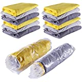 "12 PACK Space Saver Travel Compress Roll-Up Storage Bags Small to Large (12, Medium (24""*16""))"