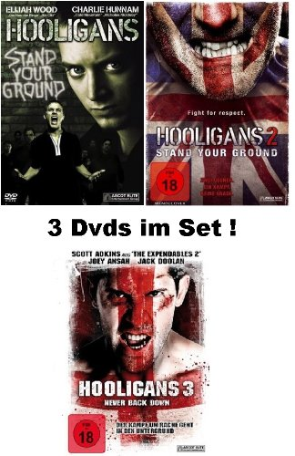 Hooligans 1-3 dvd Set, Bundle, 1,2,3 in Deutsch FSK18