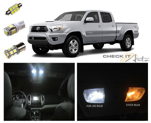toyota tacoma led package interior tag reverse lights 7 pieces toytac05w