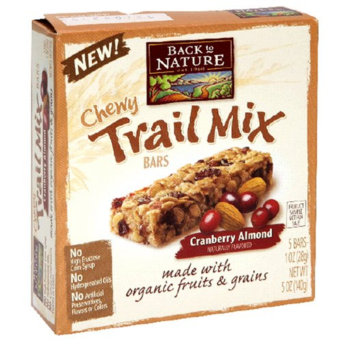 Back to Nature Chewy Trail Mix Bars, Cranberry Almond, 5-Count Bars ...