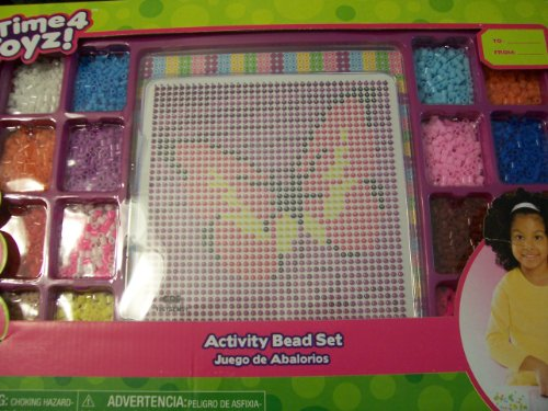 Time 4 Toyz Activity Bead Set ~ Butterfly, Mermaid, & Flower (Over 2500 Beads)