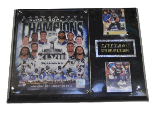 Seattle Seahawks Super Bowl Xlviii Champions 2 Card Collector Plaque W/8X10 Photo front-592958