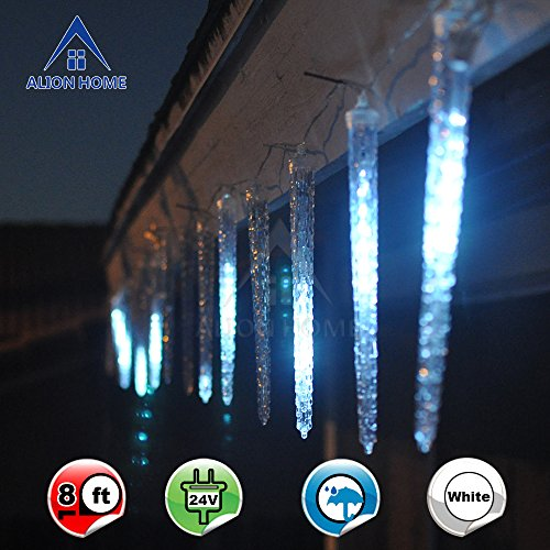 Alion-Home-Shooting-Star-112-Count-LED-Icicle-Christmas-lights-8ft-Length-Cool-White