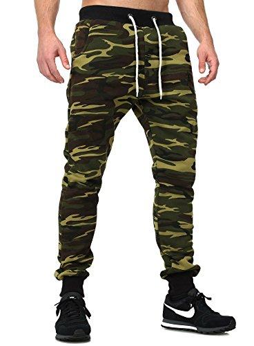 Akito Tanaka pantaloni da jogging Camouflage verde XXL