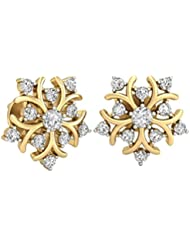 WearYourShine By PC Jeweller The Ursina 18 K Gold And Diamond Stud Earrings