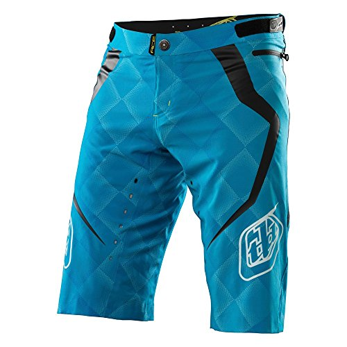 Troy Lee Designs, Pantaloni corti Uomo, modello Ace Elite, Blu (Cyan), 36