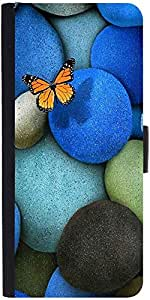 Snoogg Lonely Butterfly Designer Protective Phone Flip Case Cover For Desire 620G Dual Sim