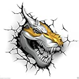 3D Deco Light Transformer Dinobots Grimlock T-Rex Night/Safety Light