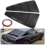 For 2005-2014 Ford Mustang Quarter 1/4 Side Window Louver Scoop Cover