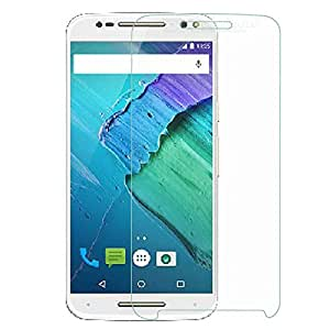 SNOOGG Motorola Moto X Style Curved 2.5D Tempered Glass Screen Guard Protecto
