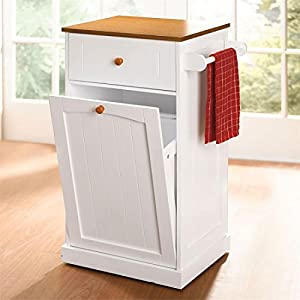 Brylanehome Country Kitchen Pull-Out Trash Can