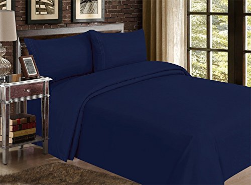 Red Nomad Luxury Duvet Cover & Sham Set, 2 Piece, Twin/Twin XL, Royal Blue (Flannel Duvet Cover Twin compare prices)