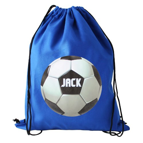 Football Themed Personalised Swim/Kit Bag - Ideal for school PE