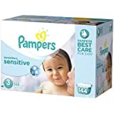 Pampers Swaddlers Sensitive Diapers Size 3 Economy Pack Plus 144 ea