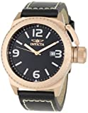 Invicta Men's 1112 Corduba Collection Black Dial Black Leather Watch