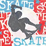 Oopsy daisy Extreme Sports Skateboard Stretched Canvas Wall Art by Roger Groth, 26 by 26-Inches
