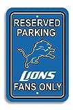 NFL Detroit Lions Plastic Parking Sign