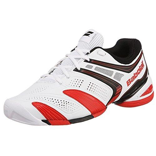 BABOLAT V-Pro 2 All Court Scarpa da Tennis Uomo, Bianco/Rosso, 42