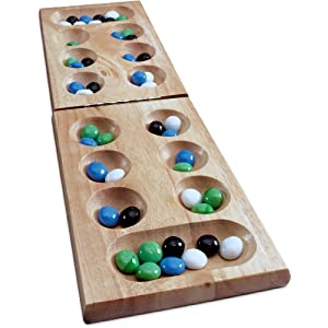 Wood Folding Mancala in Sleeve