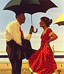 14in x 16in Bad Boy, Good Girl by Jack Vettriano - Stretched Canvas