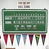 Baseball Time Party Supplies - Hanging Scoreboard