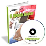 GuitarCoach 6 Week Guitar Volume 1: Go From a Complete Beginner to a Confident Guitarist - 50 HD Videos, 100 Page Course Guide, Backing Tracks, Tab Book, Chord Chart and Practice Planner