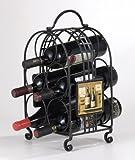 Evergreen Enterprises 3WR378 Metal 5-Bottle Wine Holder - Chateau Margaux