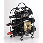 Evergreen Enterprises 3WR378 Metal 5-Bottle Wine Holder – Chateau Margaux