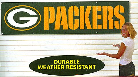 Green Bay Packers 8' Banner - Buy Green Bay Packers 8' Banner - Purchase Green Bay Packers 8' Banner (The Party Animal, Home & Garden,Categories,Patio Lawn & Garden,Outdoor Decor,Banners & Flags,Sports Flags & Banners)