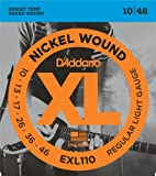 DAddario EXL110 Nickel Wound Electric Guitar Strings, Regular Light, 10-46