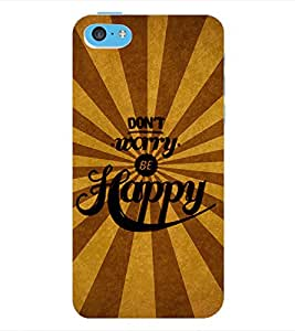 ColourCraft Quotes Back Case Cover for APPLE IPHONE 5C