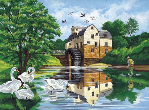 Reeves Large Painting By Numbers - Watermill