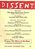 img - for Dissent : Prague : The Wave of the Past, November-December 1969 book / textbook / text book