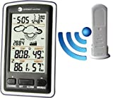Ambient Weather WS-1285 Wireless Weather Station with Thermometer, Hygrometer, Forecaster, Barometer, Atomic Clock