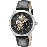 Lucien Piccard Optima Automatic Men's Open Heart Watch (Black Rose Tone)