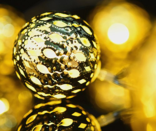 Gold Globe String Lights : Festive Up Your Home with String Globe Lights for Under USD 10! Just Bright Ideas