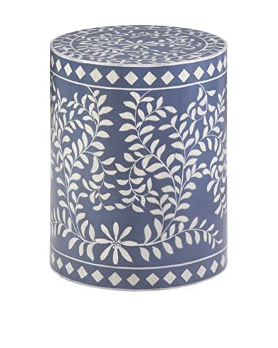 Luxury Home Mosaic Drum Table, Blue