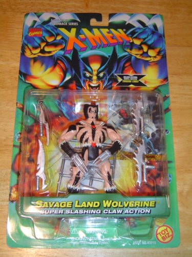 X-Men Flashback Series Savage Land Wolverine Action Figure - 1