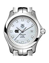 UNC TAG Heuer Watch - Women's Link with Mother of Pearl Diamond Dial a