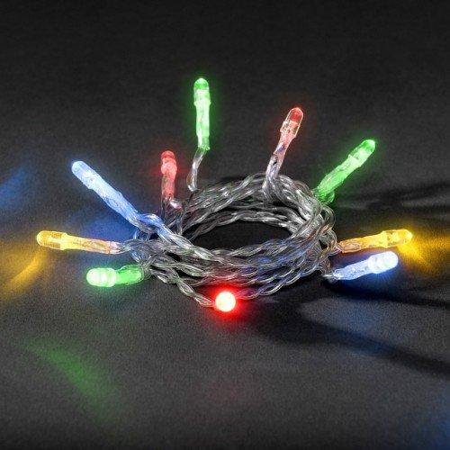 LED Micro-Lichterkette für innen, 10 bunte Kerzen