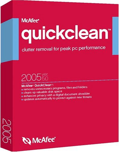 Mcafee Quickclean 2005 5.0 [Lb] back-655090